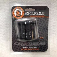 Oxballs Squeeze Ball Stretcher Black Scrotum Ball Stretch Slapping Ring Flex Tpr