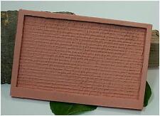 (HB003) Silikonform: Mauerplatte aus Quadersteinen 1:87, H0, H0m, H0e