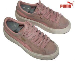 Royaume-Uni disponibilité e7be8 9ea47 Détails sur PUMA - Sneakers Suede Platform compensé cuir daim rose 38 eur 5  uk 7.5 us