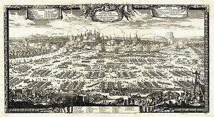 MAP-ANTIQUE-1655-PUFENDORF-KRACOW-CITY-PLAN-LARGE-REPLICA-POSTER-PRINT-PAM0155