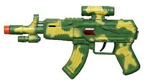 Kids Toy Army  Rifle with See thru  Scope and rata tat tat sound.