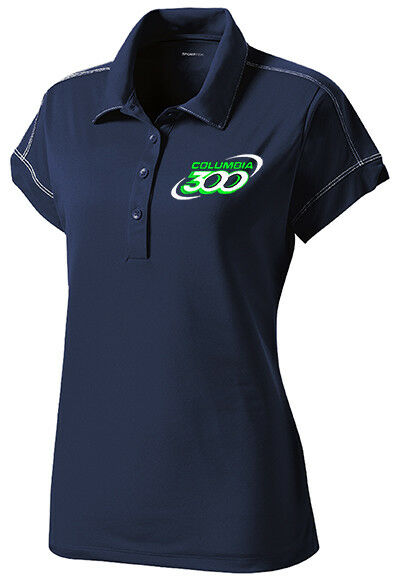 Columbia 300 Women's Jazz Performance Polo Bowling Shirt Dri-Fit Navy