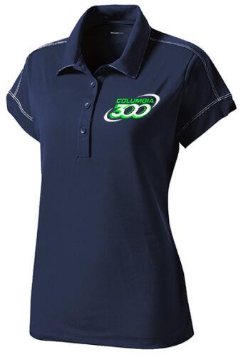 Columbia 300 Women/'s Jazz Performance Polo Bowling Shirt Dri-Fit Navy