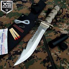"10.5"" BONE EDGE Tactical Hunting COMBAT Survival Knife Bowie w/ Sheath"