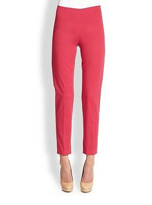 LAVIA 18 Italian Designer Raspberry Pink Slim Pants Size 46 US 10 $175 Nwt!
