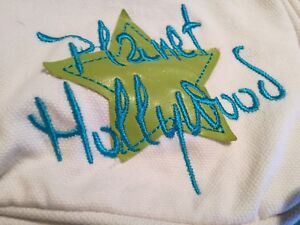 PLANET-HOLLYWOOD-LITTLE-WHITE-amp-GREEN-CANVAS-SMALL-BAG-for-WOMEN-or-GIRL