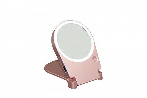 10x Rose Gold Floxite Lighted, Floxite 10x Lighted Travel And Home Mirror