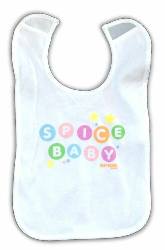 Spice Girls Spice Baby Infant White Bib Burp Cloth New Official Band Merch