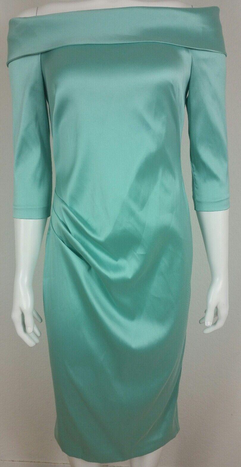 Theia damen damen damen Dress Größe 6 Stretch Satin Off the Shoulder Cocktail Wear 396