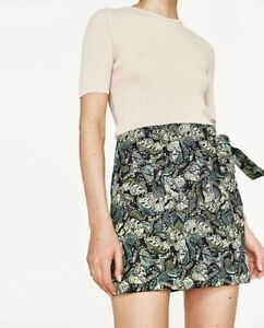 Skirt Xs Out Ebay Mini Ladies Sea Green Sold Jacquard Bnwt Zara PwXqzxO7c