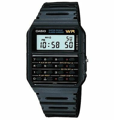 Casio CA53W-1 Men's Rubber Band 8 Digit Alarm Chronograph Calculator Watch