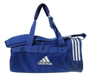 459773990be7 Adidas CVRT 3S Core Small Duffle Bags Running Blue White GYM Bag ...