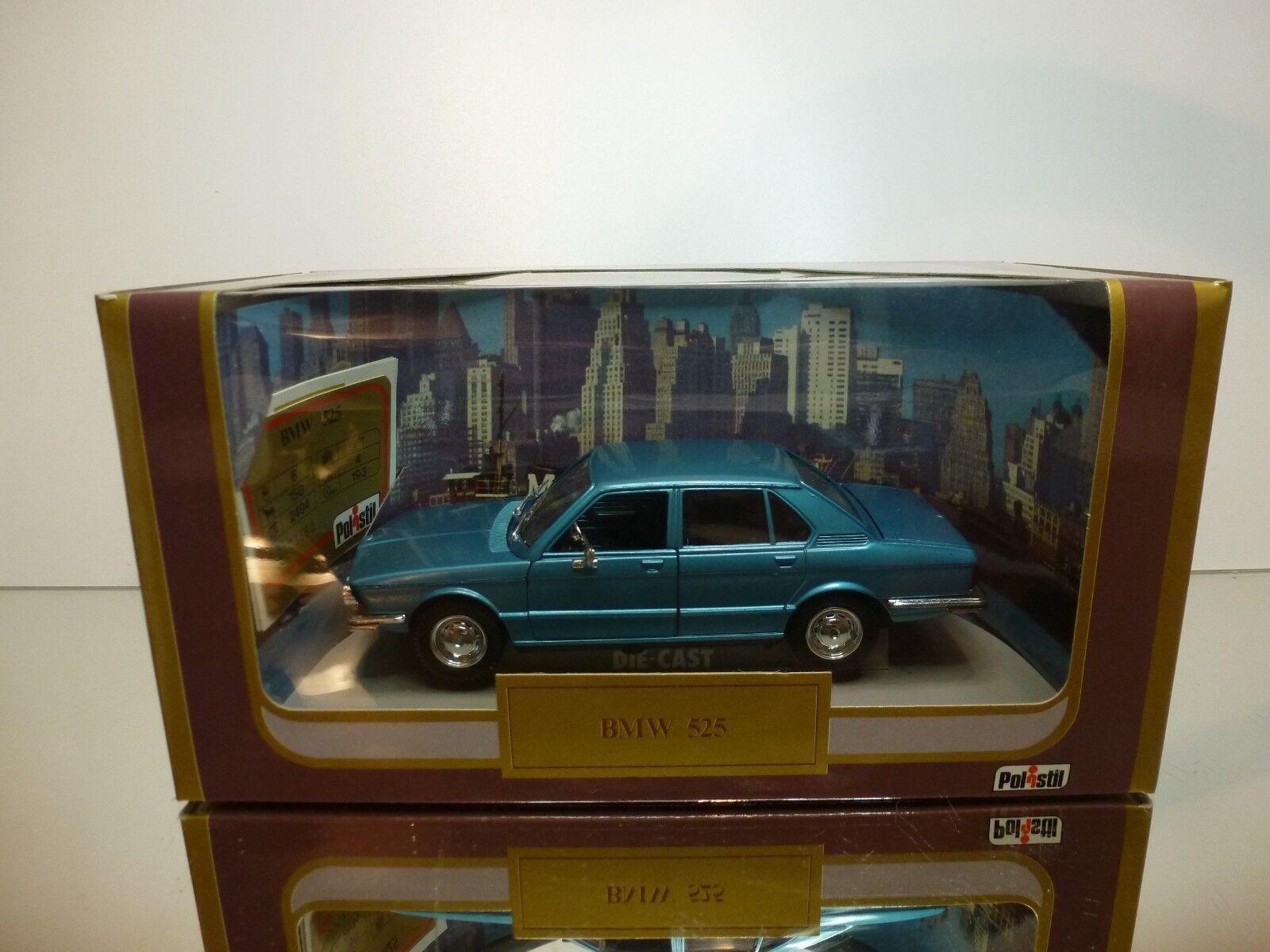 POLISTIL SG7 BMW 525 E28 - BLUE METALLIC 1:25 - GOOD CONDITION IN BOX (2)