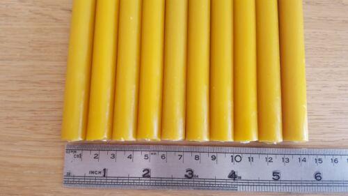 10 PCS naturelle Cire d/'abeille Fait à la main Bougies 8 pouces