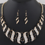 Fashion-Elegant-Women-Rhinestone-Crystal-Choker-Bib-Statement-Pendant-Necklace thumbnail 15