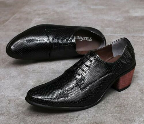 Details about  /Mens Shiny Leather Lace Up Pointed Toe Hairstylist Dress Formal Oxfords Shoes