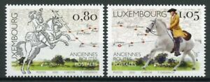 Luxembourg-Europa-Stamps-2020-MNH-Old-Postal-Routes-Services-Horses-2v-Set