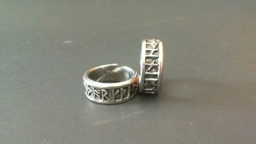 Viking Rune Pewter Adjustable Ring New Made in Scotland Thor Odin Pagan Celtic