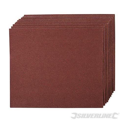 Schmirgelleinen 10er-Pckg Schleifpapier NEU Silverline 80K Schmirgelpapier
