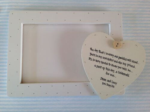 Shabby personalised Gift Chic Sister In Law Bridesmaid Photo Frame 20 X 15 cm