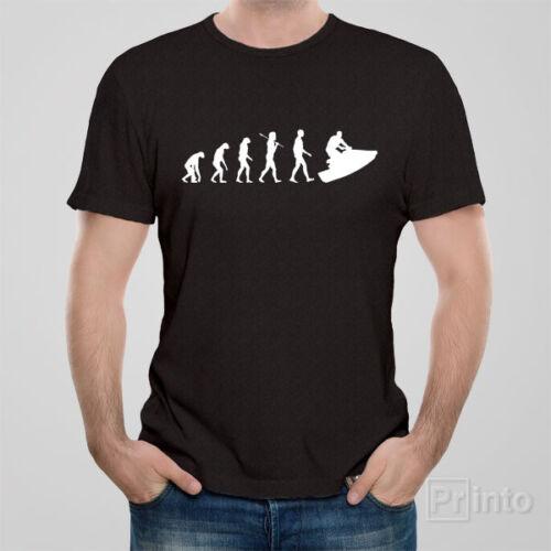 Funny T-shirt EVOLUTION OF JET SKI jetski gift present novelty