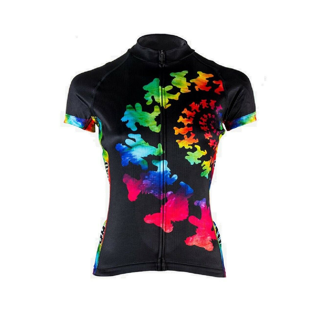 Primal Wear Grateful Dead purple Women's Full Zip Evo Cycling Jersey