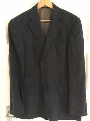 Austin Reed Men S Jacket 40r 100 Linen Blue With Pinstripe Ebay