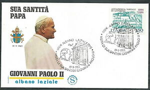 1982 Vaticano Viaggi Del Papa Albano Laziale - Sv