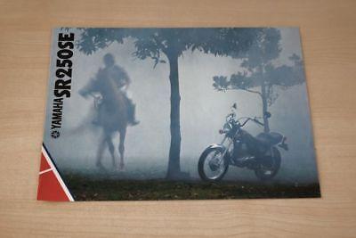 Car & Truck Manuals Manuals & Literature Yamaha Sr 250 Se Prospekt 01/1981 Luxuriant In Design Confident 194361