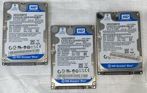 3-x-2-5-034-SATA-Laptop-WD-Scorpio-HDD-je-320GB-5400rpm-WD3200BPVT