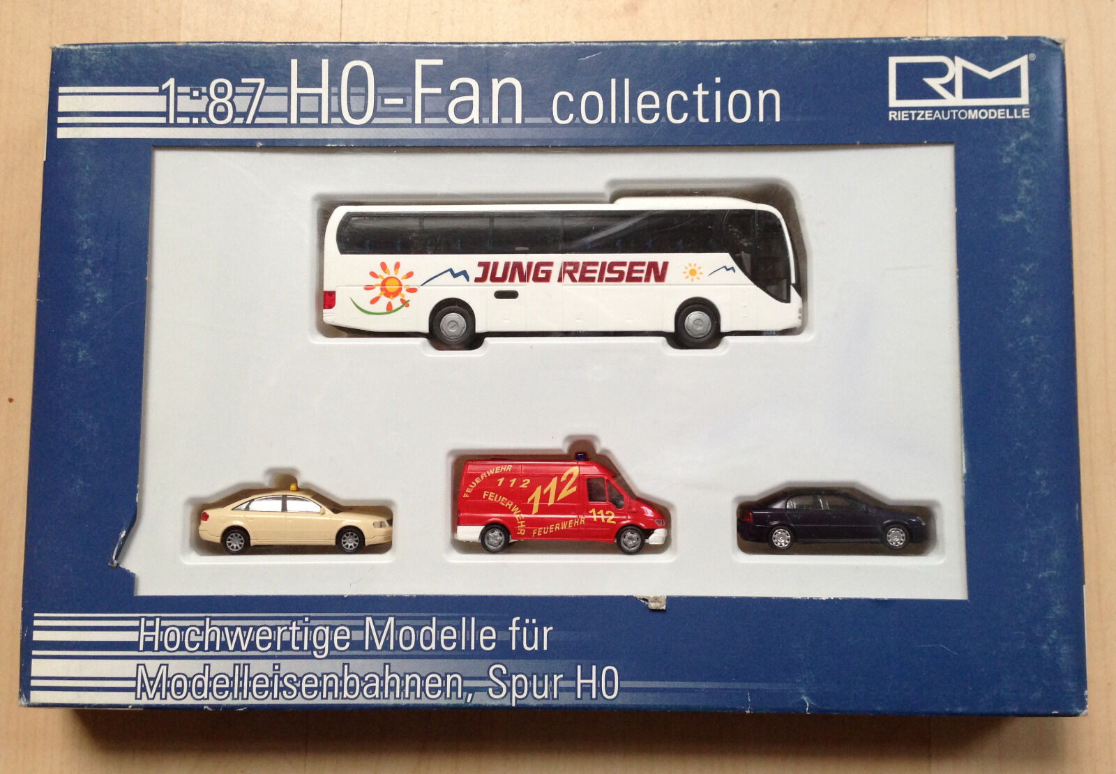 Modelleisenbahn Rietze Fan Edition Feuerwehr Taxi Reisebus Auto H0 HO