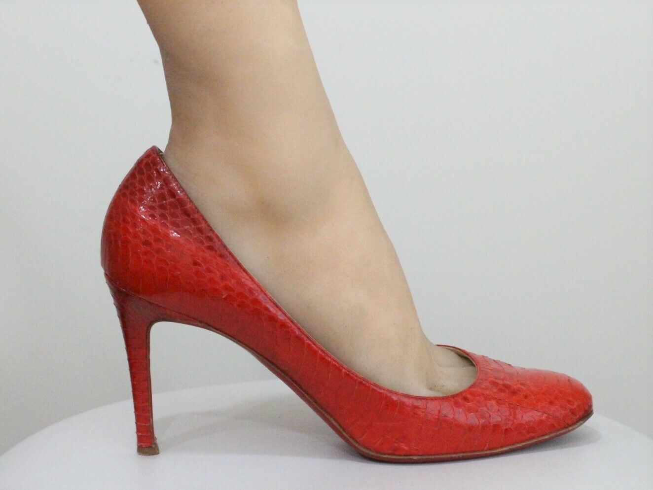 big sale bf024 44eee Christian Louboutin Simple Simple Simple 100 Red Python ...