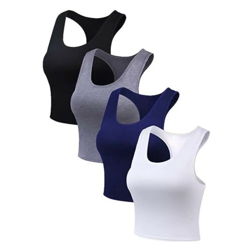 Crop Tank Tops Racerback Sport Top Women/'s Fashion Yoga Activewear Size S,M L