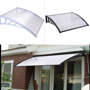 Details about J-LIVING DOOR CANOPY FRONT AND BACK DOOR AWNING POLYCARBONATE  80 X 120CM MODERN