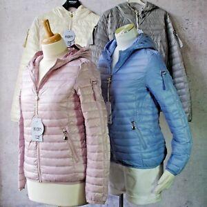 Details zu ♥ Leichte Steppjacke Übergangs Jacke Übergangsjacke Streifen Glitzer *199