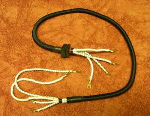 W48 Ersatzteile Telefonteile Telefon Hörerschnur schwarz dehnbar W48