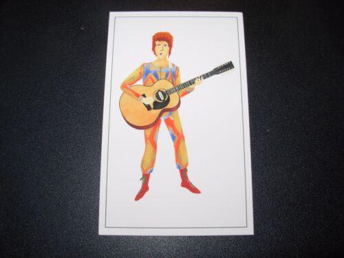 """MAX DALTON David Bowie ziggy stardust 2X4/"""" poster art handbill"""