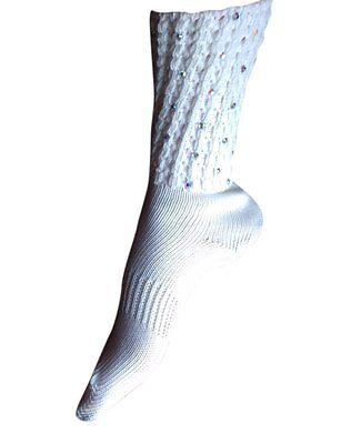 Calcetines DANZA IRLANDESA doble Diamonte Caniche Soporte para el arco Transparente X Pequeño de 2-3 años