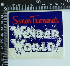 VINTAGE-SIMON-TOWNSEND-039-S-WONDER-WORLD-TV-SHOW-ADVERTISING-PROMO-VINYL-STICKER