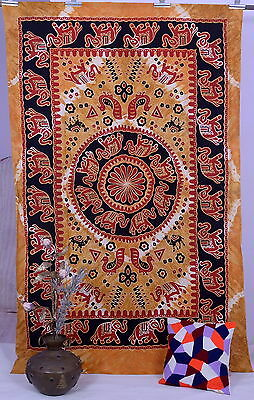 Elephant Mandala Tapestries Wall Hanging Hippie Indian Tapestry Ethnic Decor