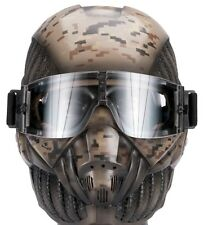 "Army of Two ""Crysis"" Desert Tan Camo Custom Fiberglass Airsoft / Paintball Mask"
