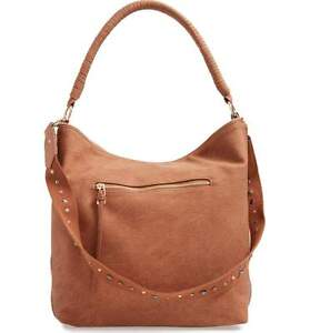 df7311279d75 Steve Madden Purse Catie Faux Leather Hobo Extra Large Hand Bag Tan ...
