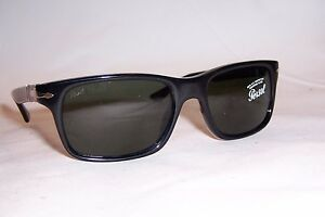 4fd7534122 NEW Persol Sunglasses 3048 S PO BLACK GREEN 95 31 55mm AUTHENTIC ...