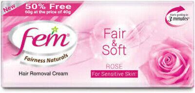 New Fem Fair Soft Rose Hair Removal Cream For Sensitive Skin 60 Gm Fs Ebay