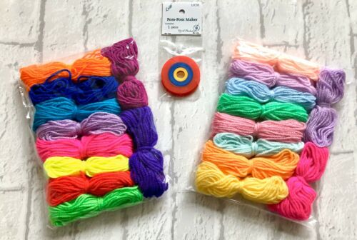 Craft Wool 10 Skeins of DK Wool with or Without PomPom Maker