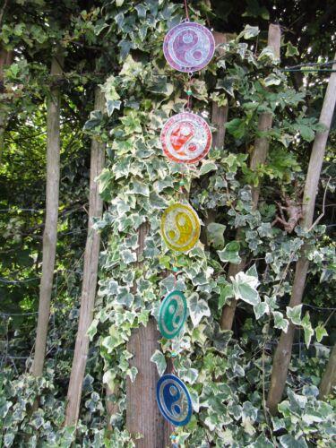 Fair Trade Hand Made Resin Yin Yang  Suncatcher Sun Catcher Window Wind Chime