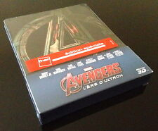STEELBOOK BLU RAY 3D+2D MARVEL AVENGERS L'ERE D'ULTRON FNAC EXCLUSIVE NEUF / NEW