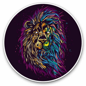 2-x-Vinyl-Stickers-7-5cm-Lion-Head-Art-Big-Cat-Africa-Cool-Gift-14774