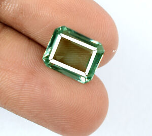 Green-Sapphire-Gemstone-Octagon-Cut-Natural-4-35-Ct-Untreated-Certified-F4056