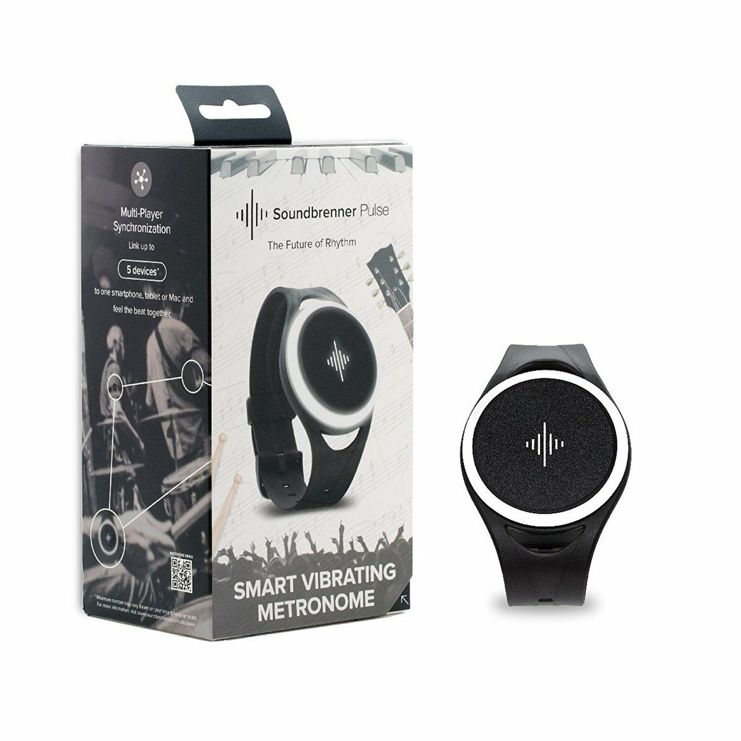 Soundbrenner Pulse Wearable Vibrating Blautooth Metronome  FREE SHIPPING